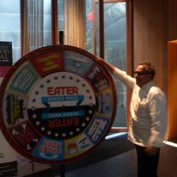 Michael Lomonaco spins the Wonder Wheel.