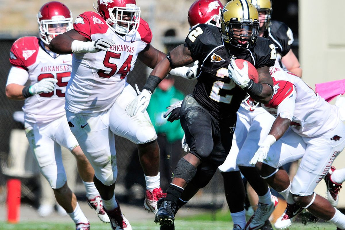 With a big 2012 season, Zac Stacy could go down as the most prolific runner in Vanderbilt history.