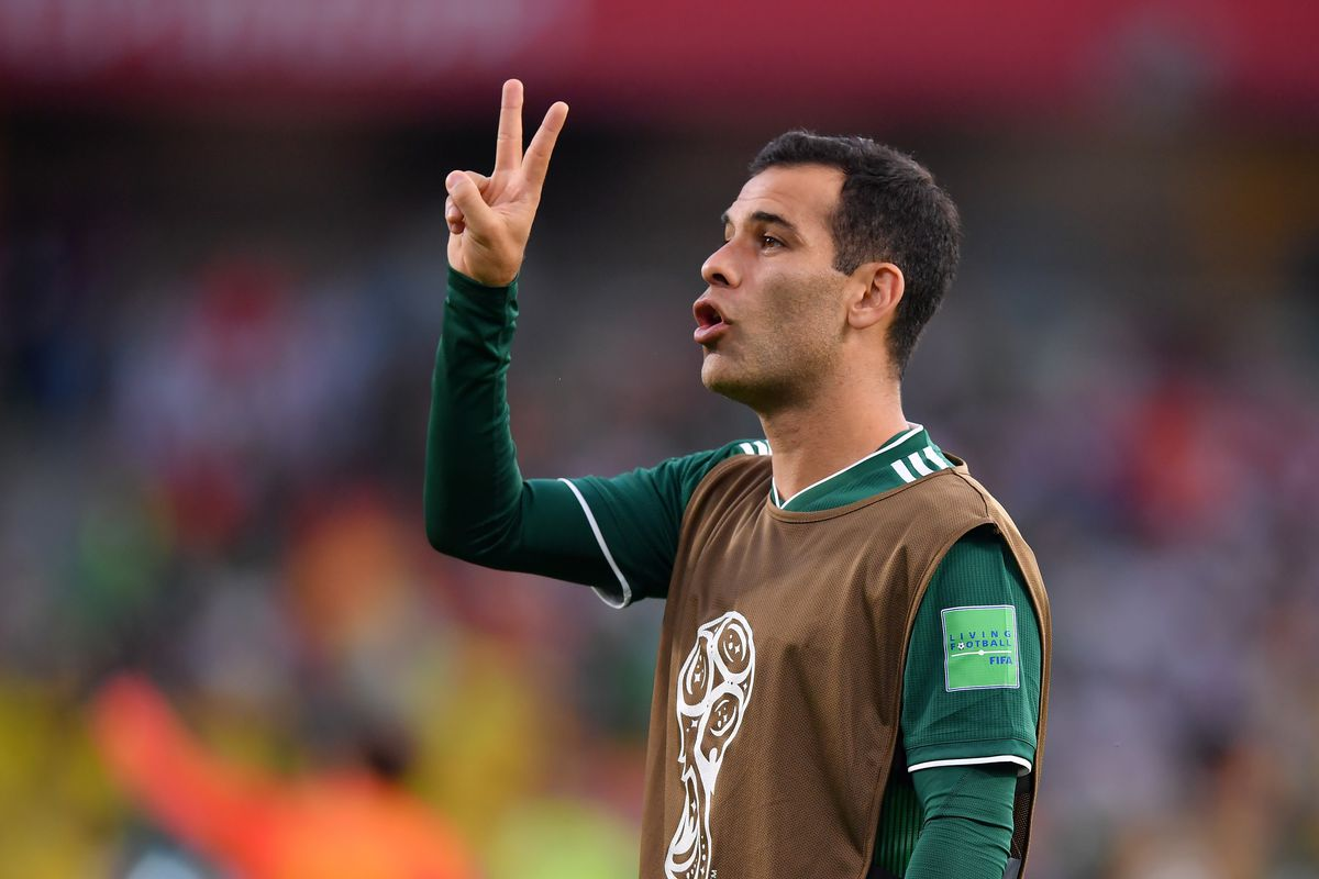 huge selection of 4ee93 5023c Rafael Marquez plays his last game for the Mexico National ...