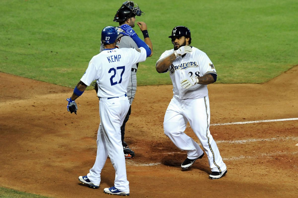 Not that this was a surprise, but don't expect Matt Kemp and Prince Fielder to be teammates in 2012.