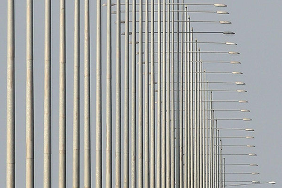Light posts.