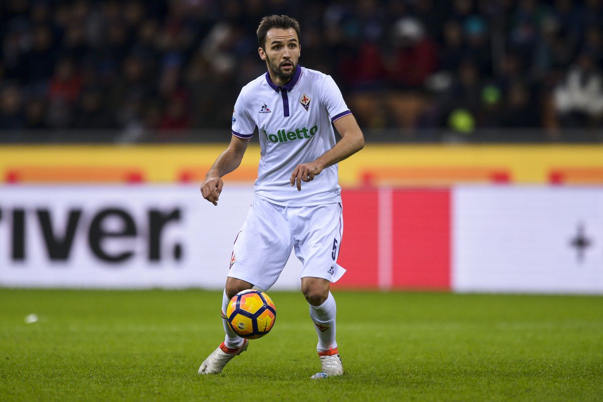 Milan Badelj of ACF Fiorentina in action during the Serie A...