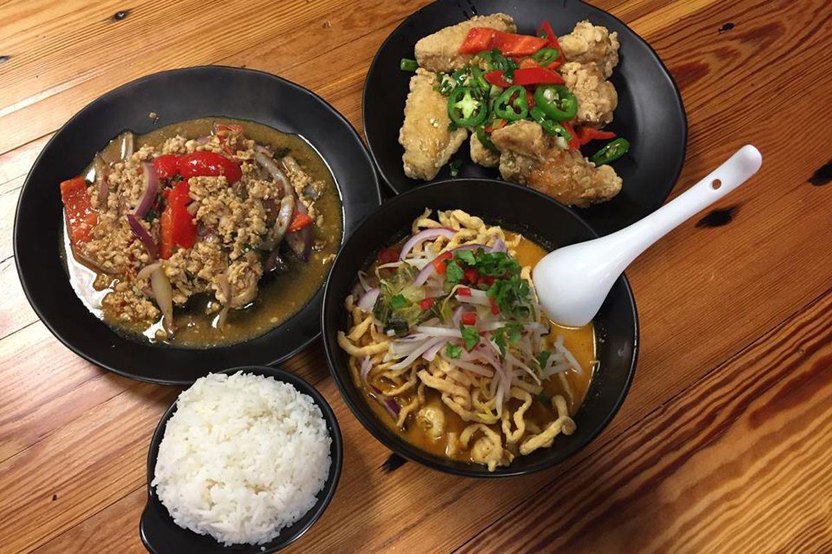 LeDu Thai Eatery dishes