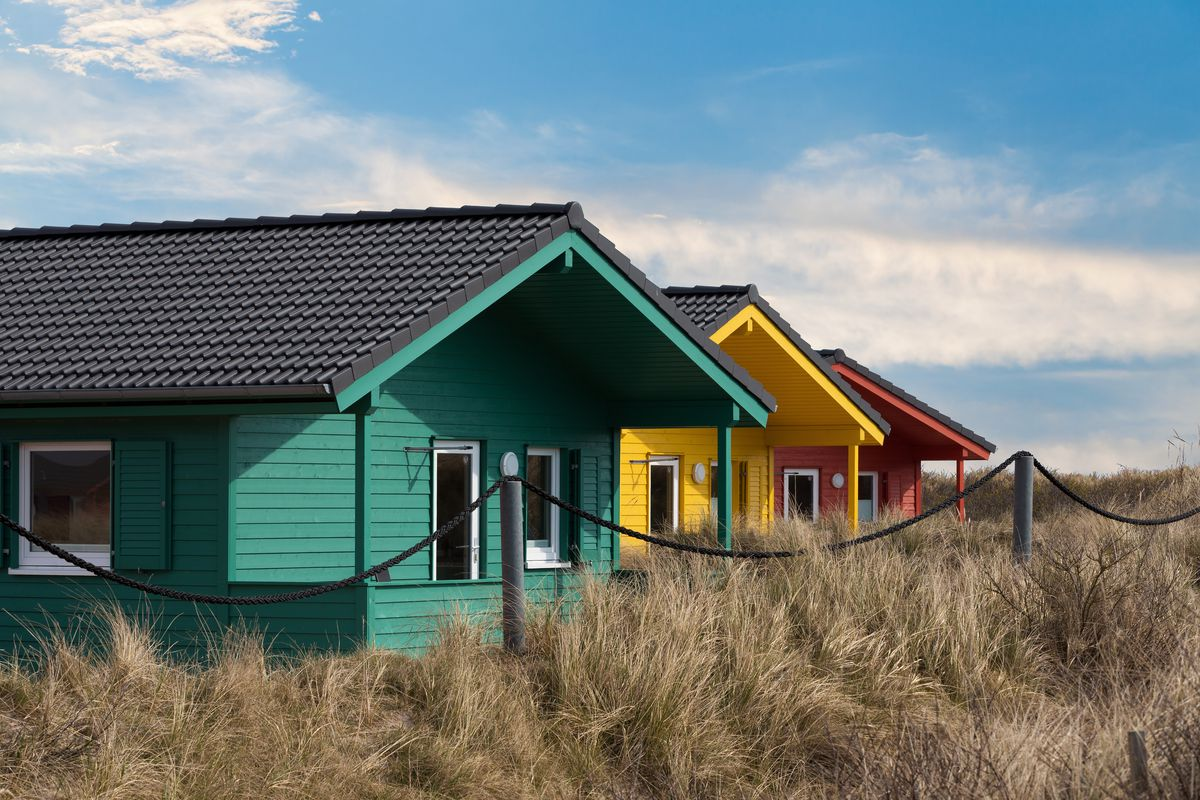colorful tiny homes