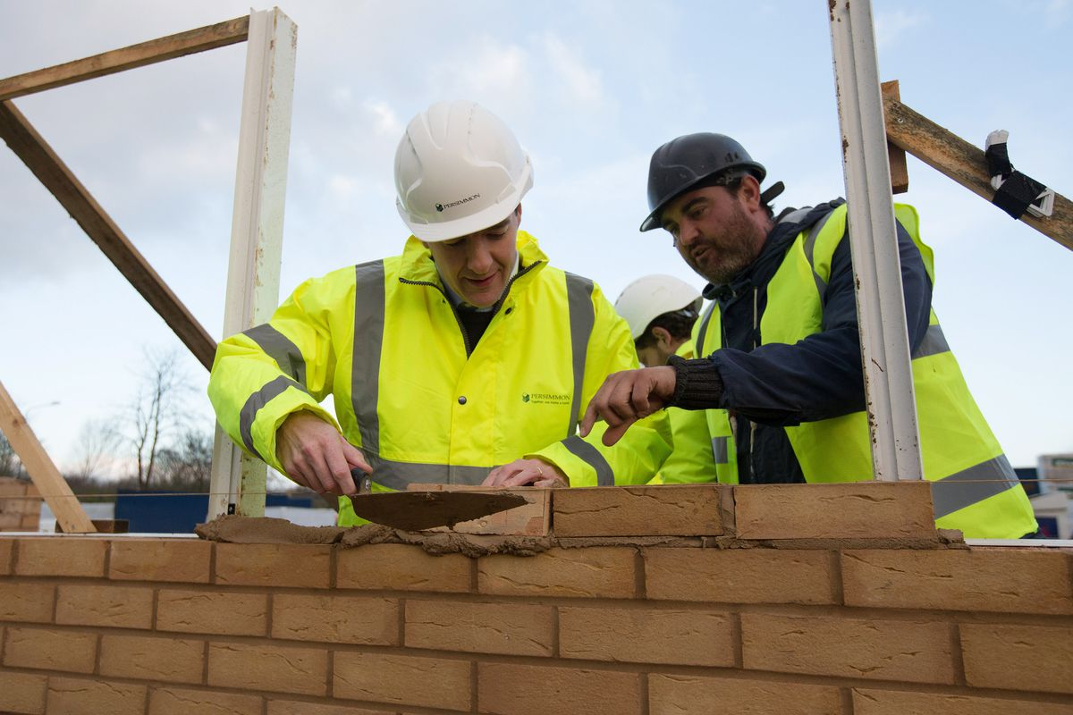 George Osborne Visits A Construction Site A Day After Delivering His Autumn Statement