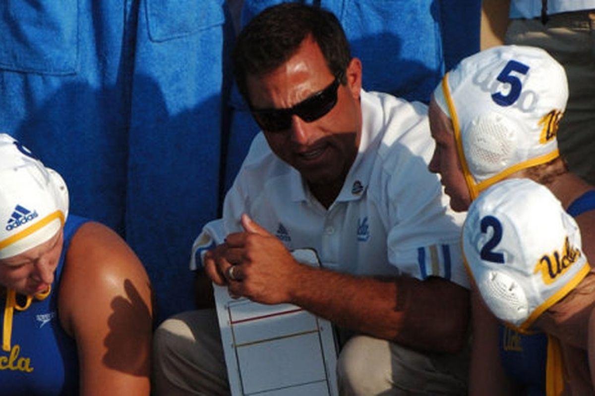 Four-time defending NCAA champions Adam Krikorian coaching his last game as UCLA women's waterpolo head coach (via official site)