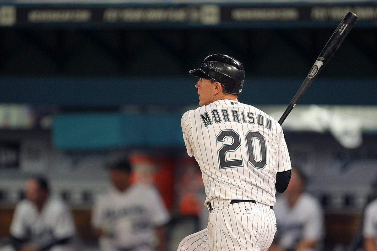 Logan Morrison should return on Monday and bat in the middle of the Marlins lineup.