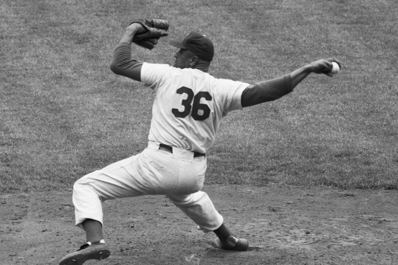 Don Newcombe Pitching for the Dodgers