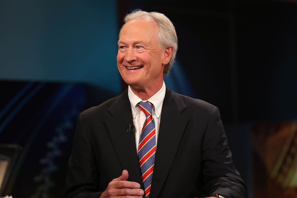 Lincoln Chafee, using some of Chafee Nation's famously good grammar on TV.