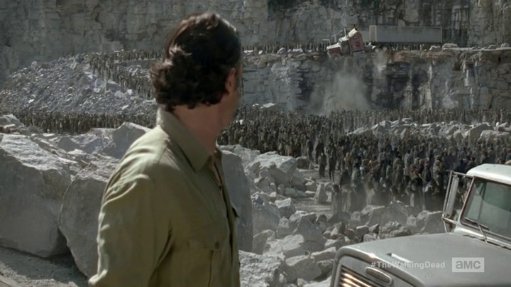 Zombies in a quarry!