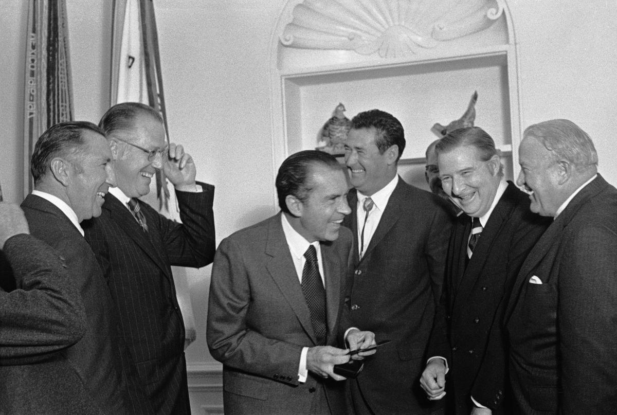 Richard M. Nixon Greeting Baseball Greats