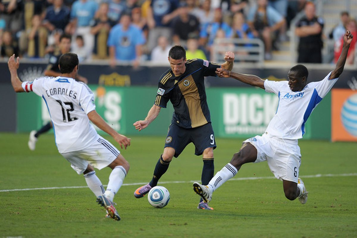 Sebastien Le Toux and the rest of the Philadelphia Union make their first trip to BC Place on Saturday.