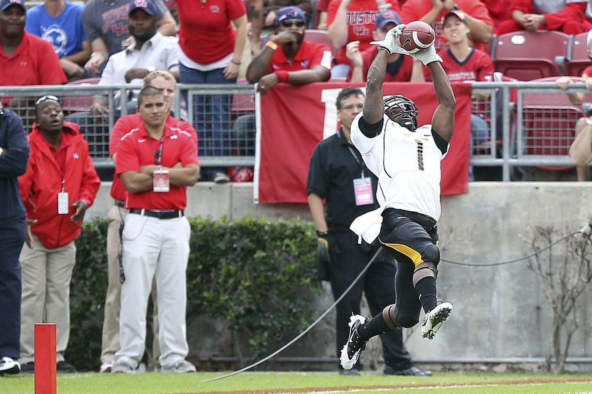 Wide receiver Tracy Lampley will be the featured receiver when Southern Miss looks to throw the ball in 2012.  (Photo by Bob Levey/Getty Images)