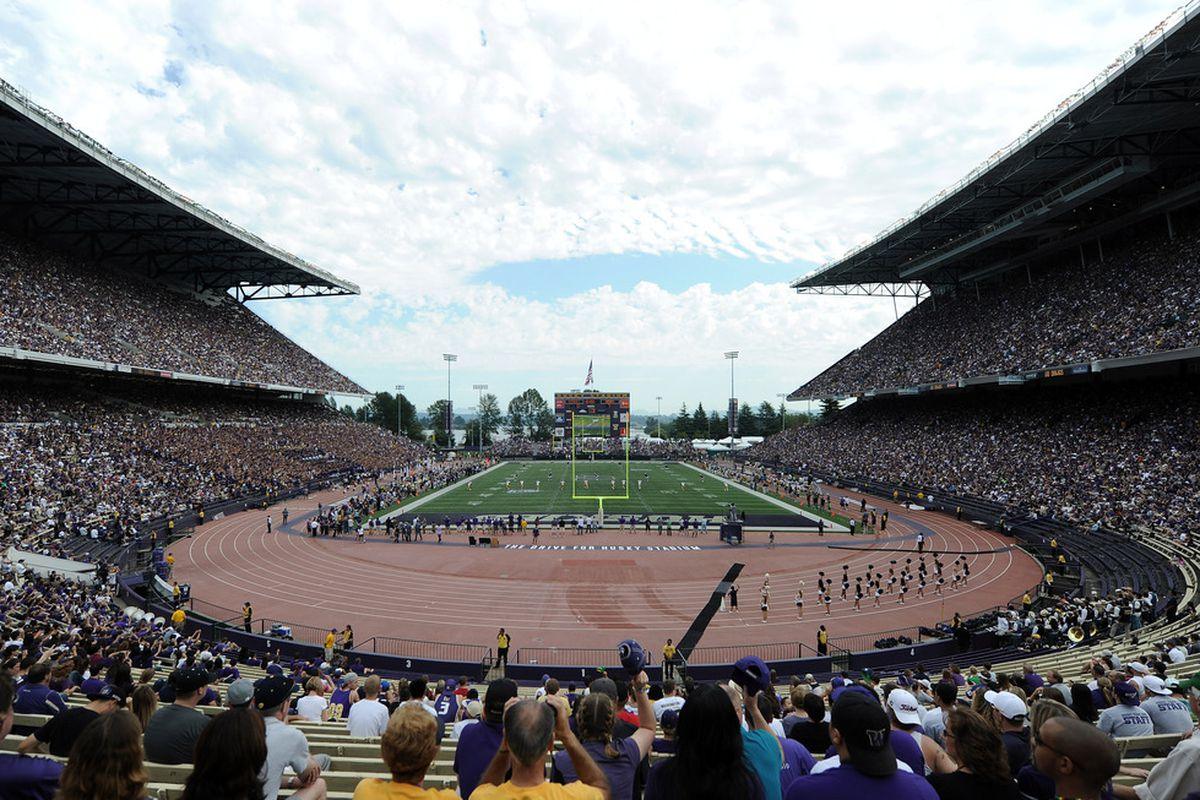 A view of the Old Husky Stadium.  The view on August 31 will hopefully look more Rosy than the last decade.