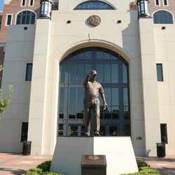 <strong>2006- Bronze statue of FSU's Bobby Bowden at the FSU Doak Campbell football stadium</strong>