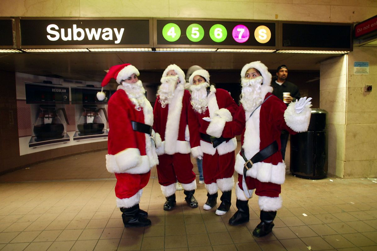 Santas Take Manhattan