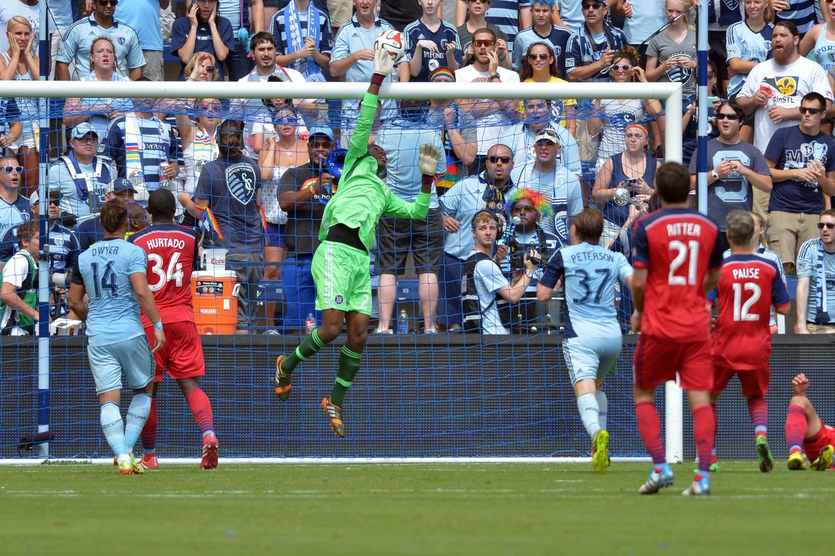 Sean Johnson saved the Fire during a 1-1 draw in Kansas City Sunday.