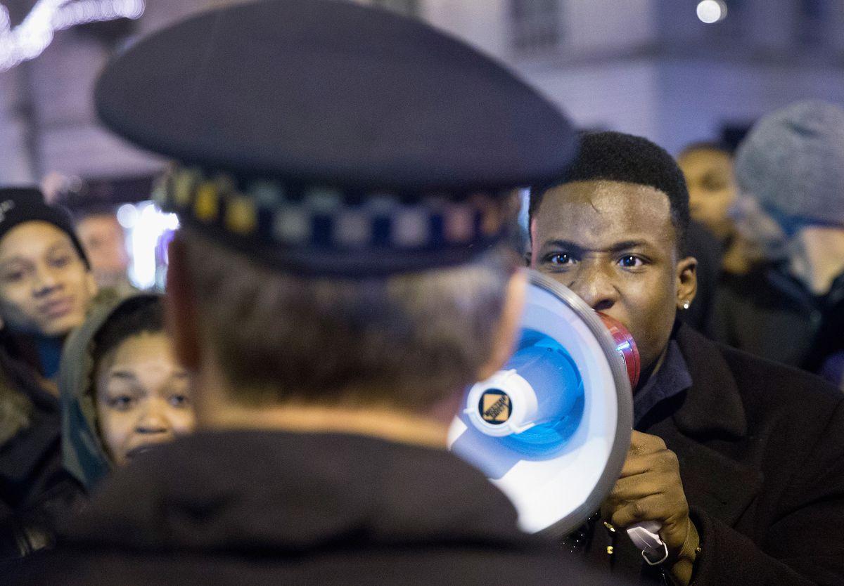 Protests erupt over police brutality in Chicago.