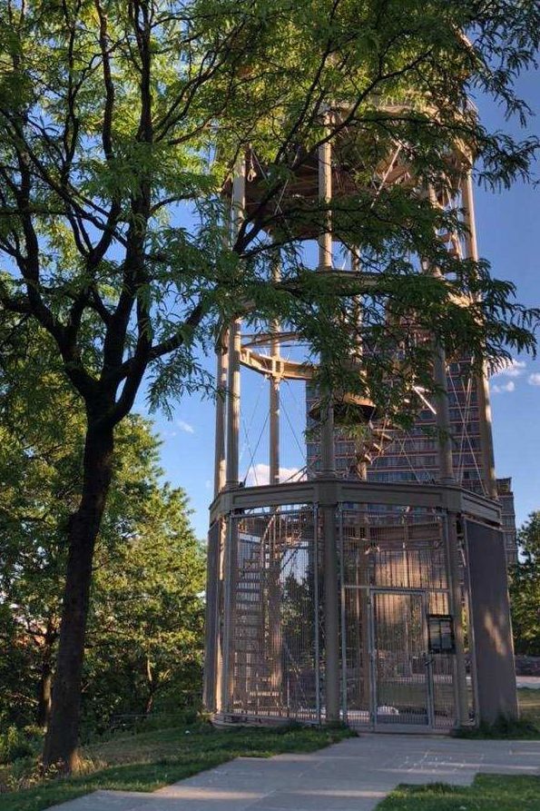 A park goer alerted authorities after spotting the noose in Marcus Garvey Park on Saturday, June 13, 2020.