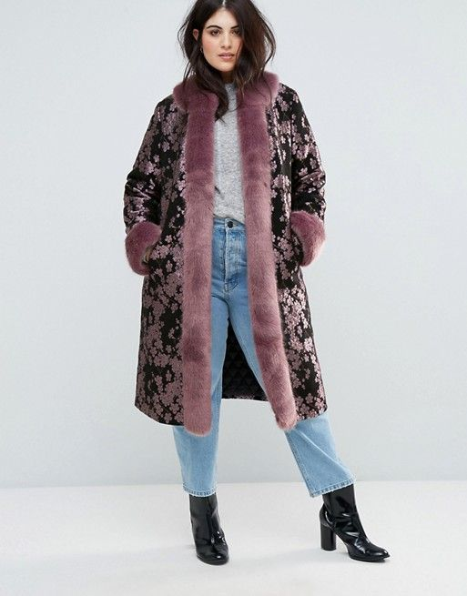 Dolly & Delicious Plus Embroidered Oversized Coat, $TK (was $222)