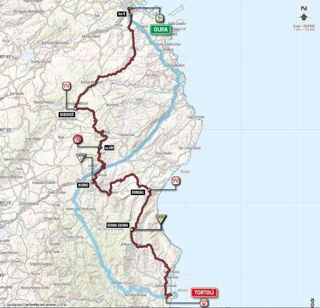 Giro st 2 map
