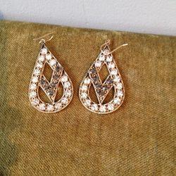Mixed crystal stone earrings, $45