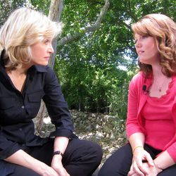 """In this July 1, 2011 photo released by ABC, ABC News' Diane Sawyer, left, speaks with Jaycee Dugard in Ojai, Calif., during her first interview since being kidnapped near her California home in 1991, when she was 11.  Dugard wrote a memoir, titled """"A Stolen Life,"""" which recounts her ordeal in detail."""