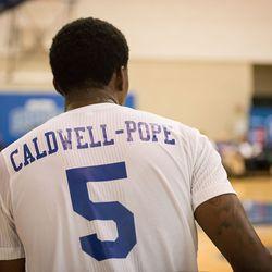 Kentavious Caldwell-Pope rests a sore back