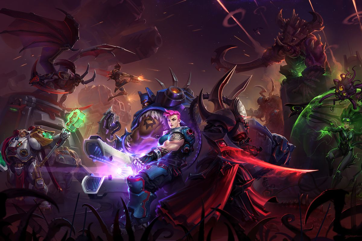 Heroes of the Storm character artwork