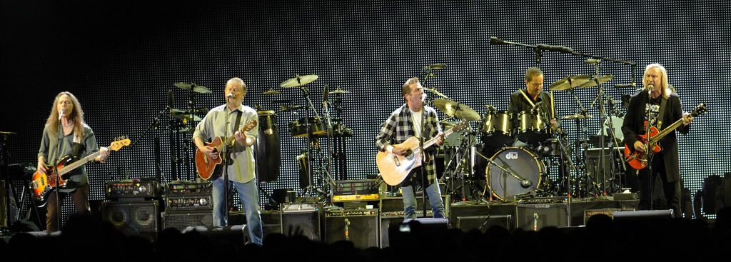 Glenn Frey and Joe Walsh and the Eagles at Soldier Field in June 2010.   Sun-Times photo by Tom Cruze