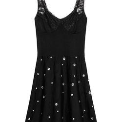 Merino wool & rhinestone dress, $125