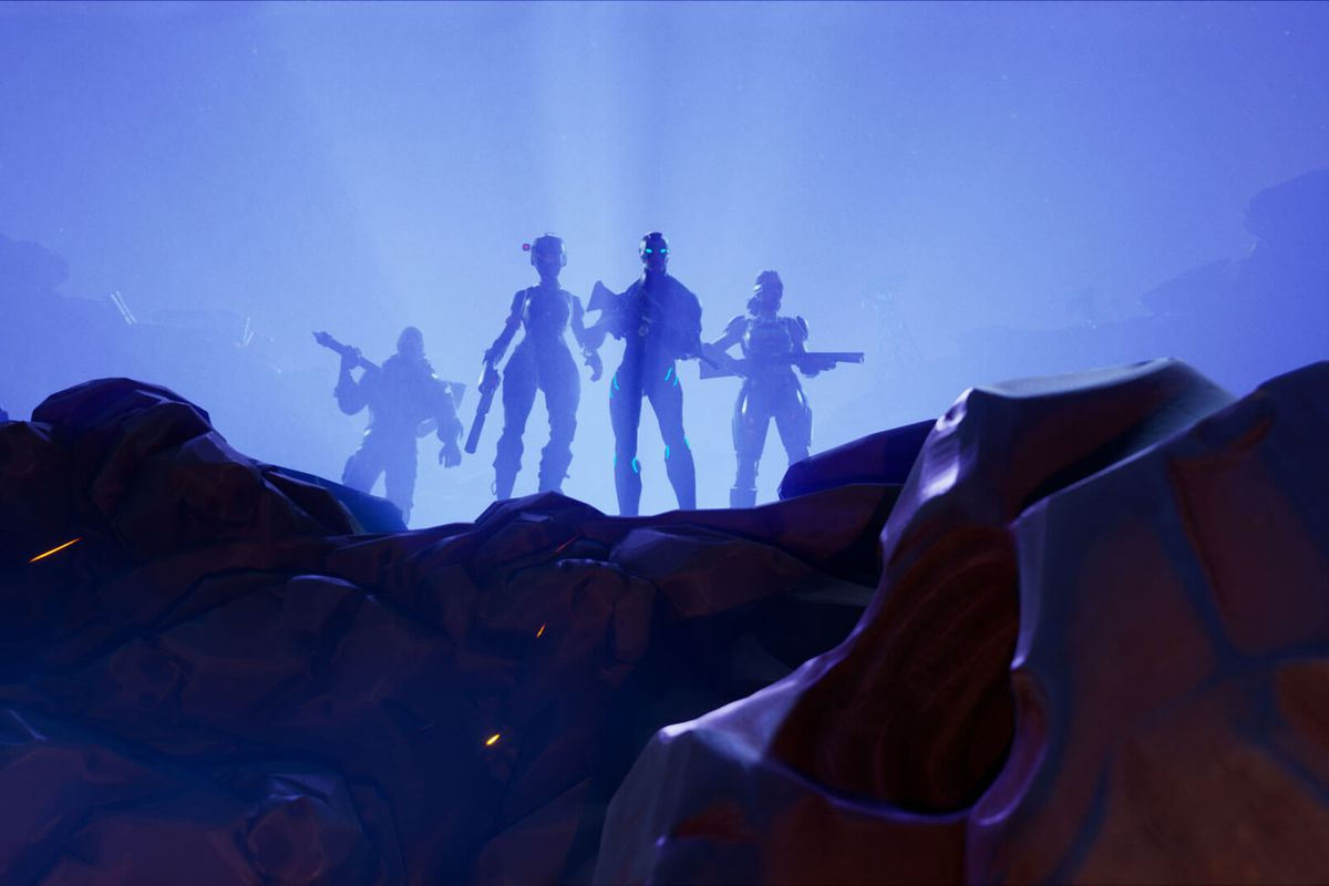 epic games - fortnite the visitor wallpaper