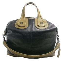 """<a href=""""http://f.curbed.cc/f/Portero_SP_RackedALL_080713_Givenchy"""">Givenchy Black & Olive Green Leather Medium Nightingale Satchel Bag - 10% OFF</a>"""