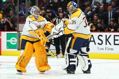 NHL: FEB 10 Predators at Canucks