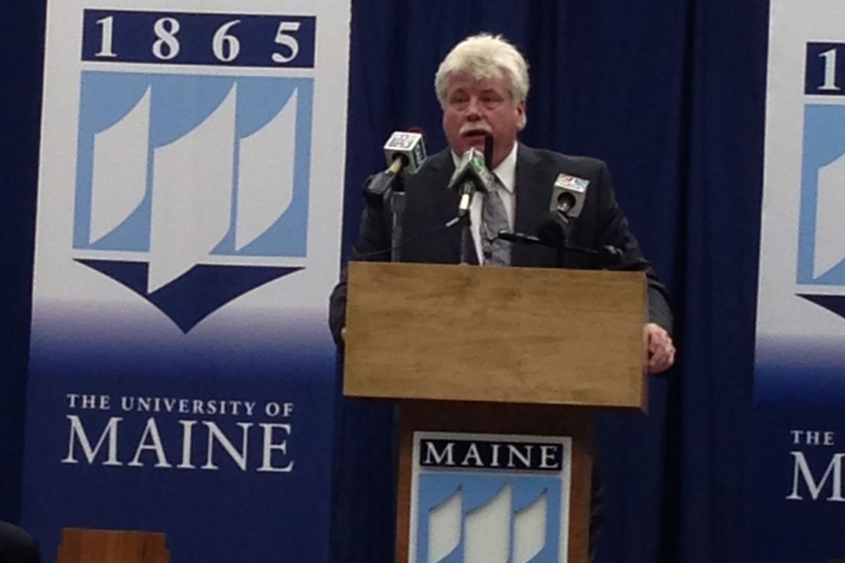 Maine head hockey coach Red Gendron