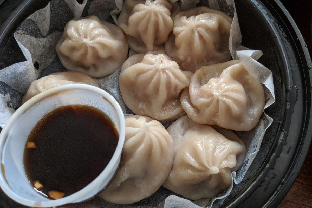 Soup dumplings from Dumpling Kitchen in Somerville