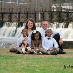Brittany and Richard Oden with their children: From left, Elijah, Annabelle, Gabbi and Kentrell.