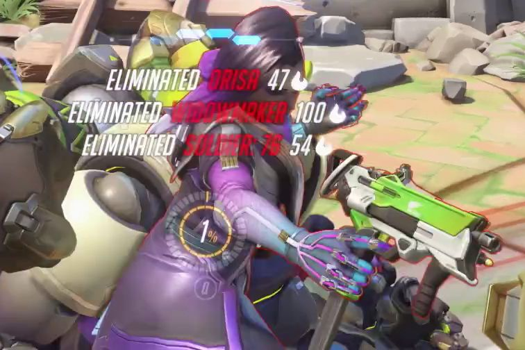 Overwatch - Sombra new weapon close-up