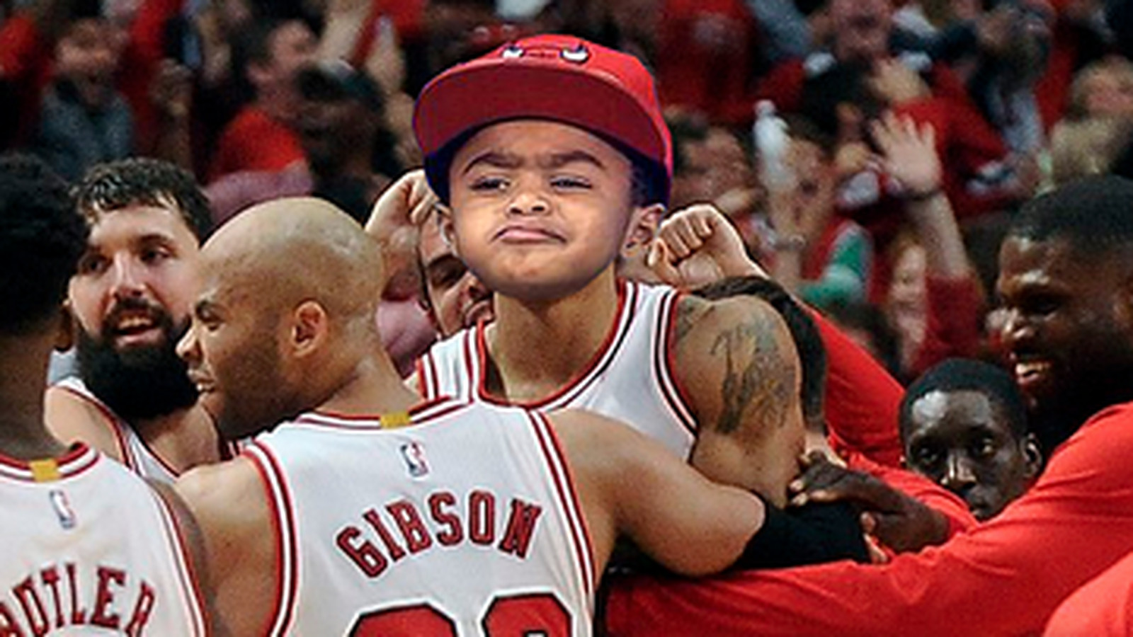 Derrick Rose S Son Made A Mean Face During His Dad S Press