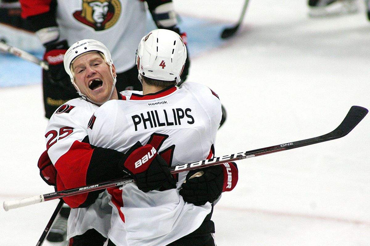 Phillips and Neil celebrate remaining in Ottawa for another year