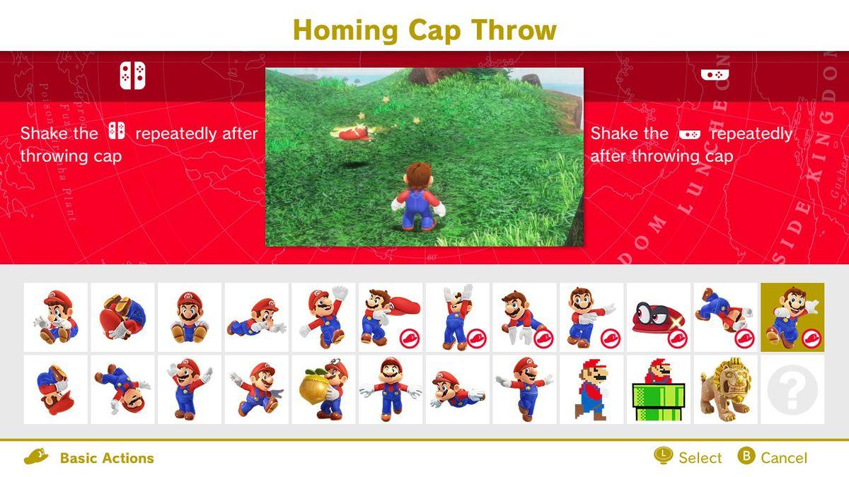 homing cap throw