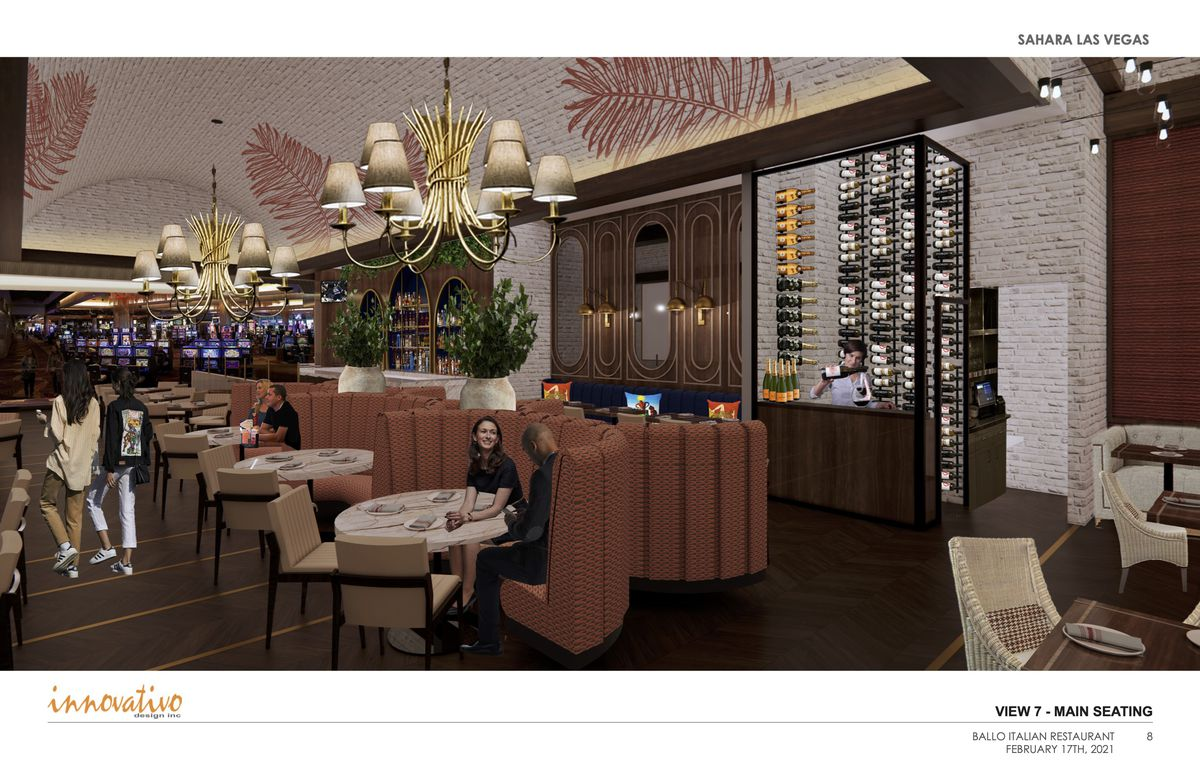 A rendering of the main dining room at Ballo