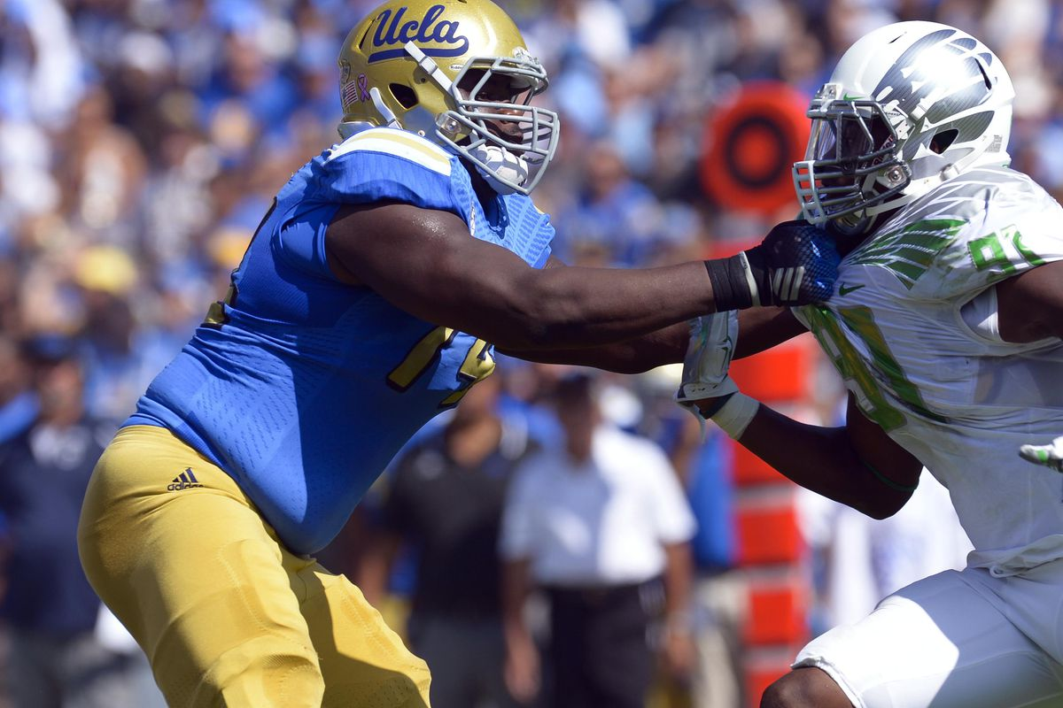 Caleb Benenoch thinks the Bruins Offensive Line can be the best in the country.