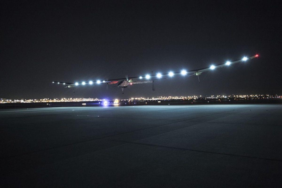 Solar Impulse lands in Texas (Credit:  © Solar Impulse |Revillard| Rezo.ch)