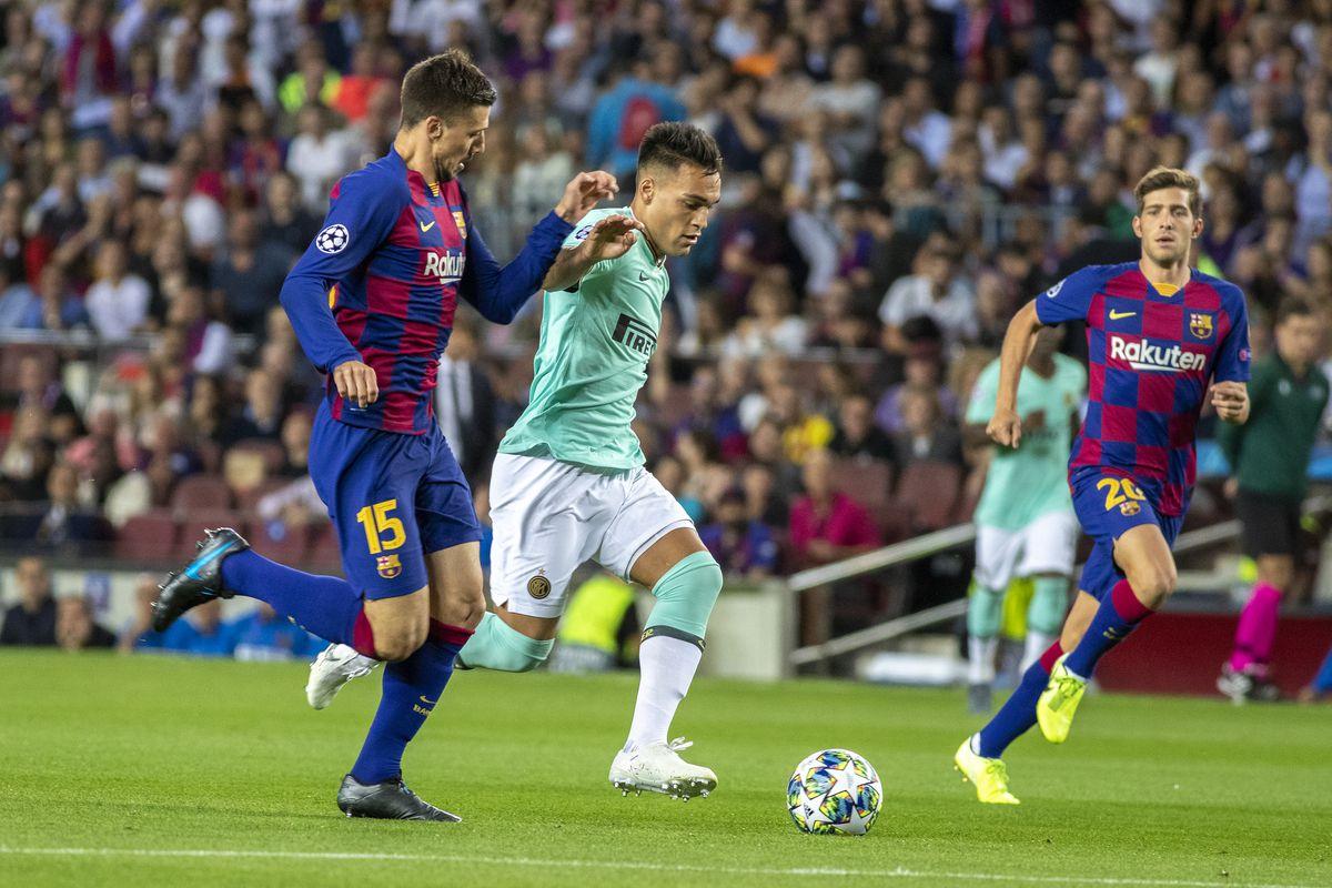 Lautaro in Barcelona vs Internazionale