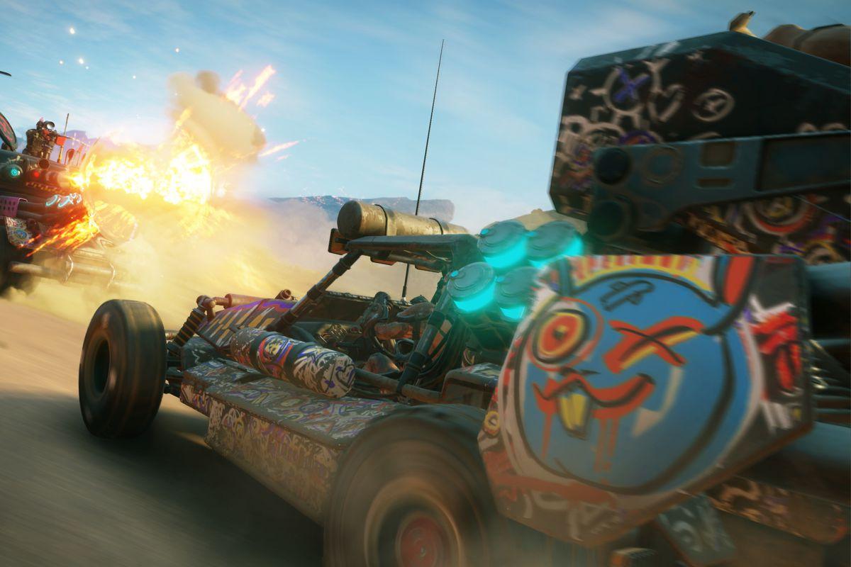 Rage 2 - road combat between two vehicles