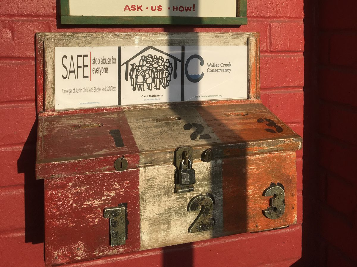 More Home Slice's charity donation boxes