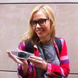 """Jessica, River North. Modeling the """"Nokia Spaceship"""""""