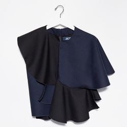 This fun black and navy shirt is how to do ruffles if your style skews tomboy.