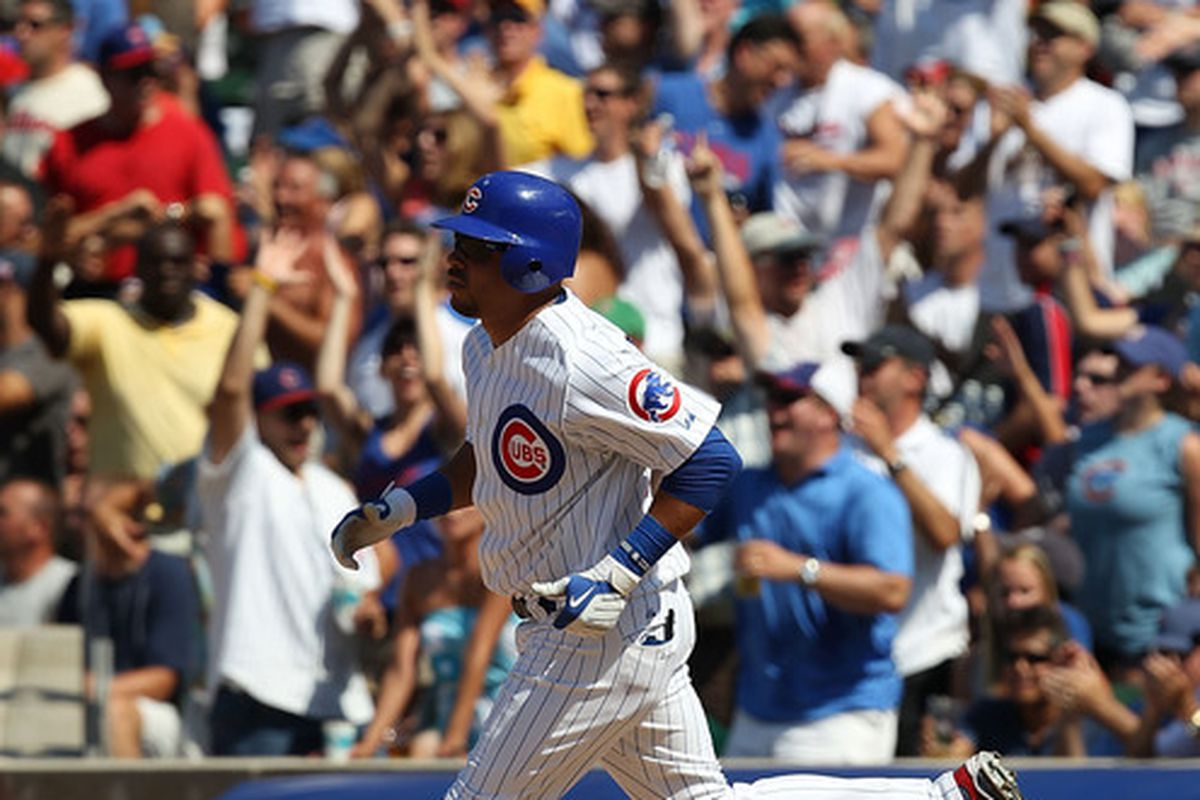 Another look at Aramis Ramirez's game-winning HR in the 8th inning yesterday - here he rounds the bases.
